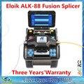 Dhl frete grátis Eloik ALK-88 FTTH fibra óptica Splicer da fusão de solda máquina de emenda