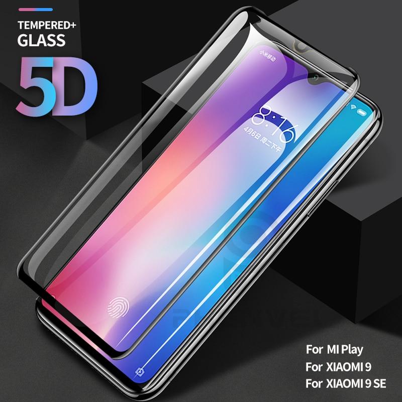 Protective Glass For Xiaomi 9 Full Cover Screen Protector For Xiaomi Mi 9 Mi9 SE MI Play 5D Tempered Glass Film