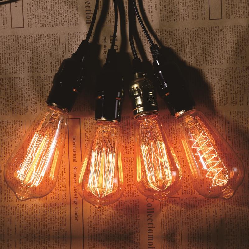 Retro Lamps E27 220V 240V LED Filament Light ST64 ST58 Glass Ball Bombillas LED Bulb Edison Candle Light 40W