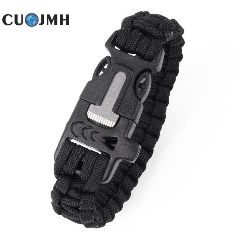 1 Pcs Wilderness Survival Bracelet Multifunction Parachute Rope Bracelet Outdoor Survival Emergency Camping Life Line oumily military army survival parachute rope black 30m 140kg 2 pcs