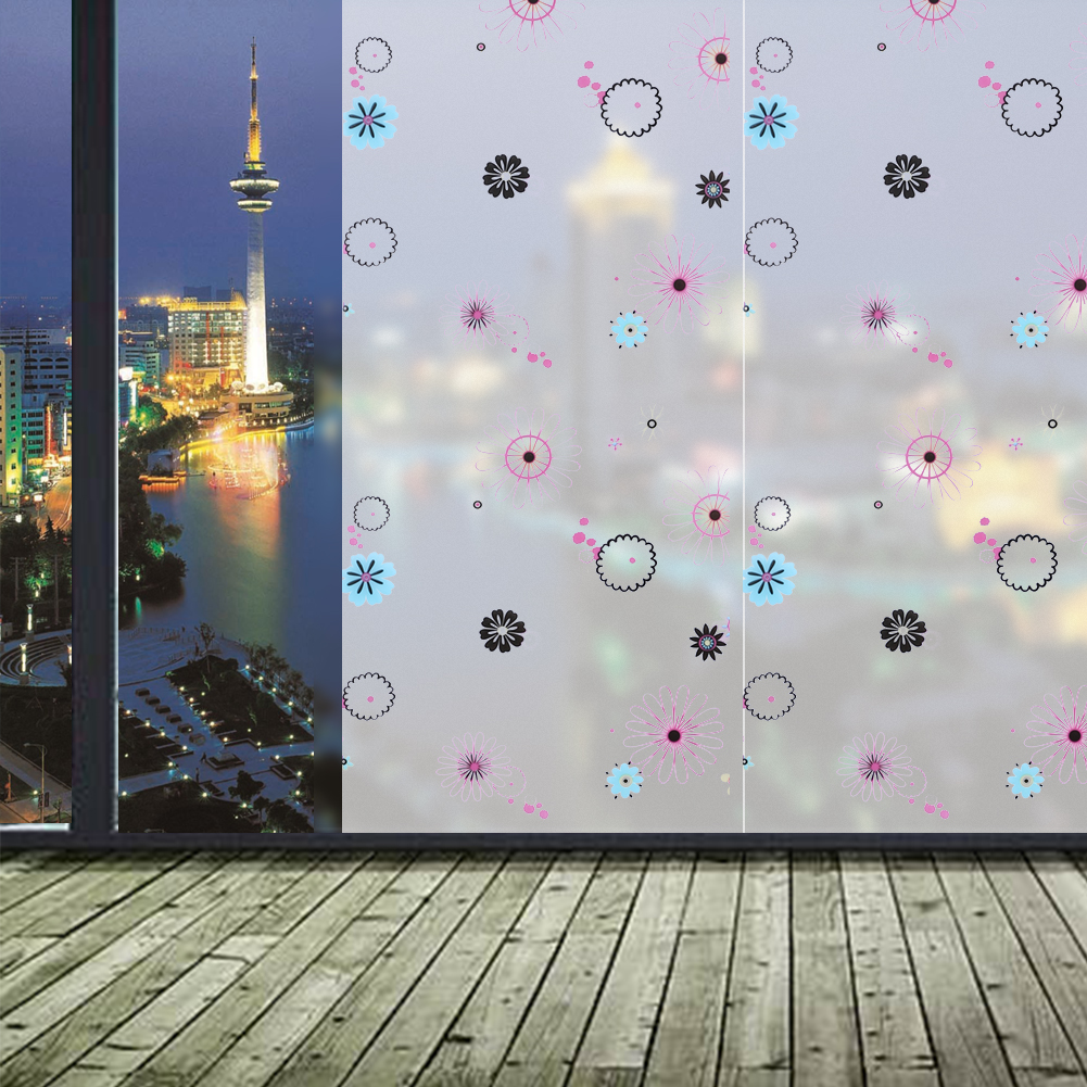 Long Self Adhesive Film Window Film Frosted Glass Sliding Door Bathroom  Window Stickers Translucent Opaque Part 88