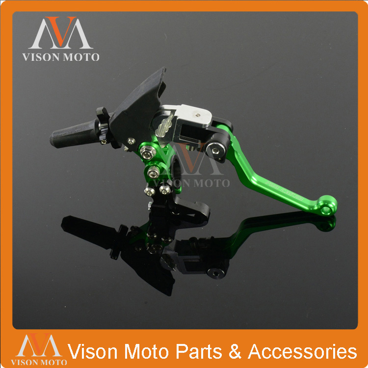 Billet Pivot 3 Direction Foldable Clutch Lever Perch For Kawasaki  KX65 KX85 KX125 KX250 KX500 KX250F KX450F KLX450R KLX150 cnc pivot brake clutch lever for kawasaki kx65 kx85 kx125 kx250 kx250f new