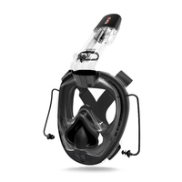 Free Shipping One piece Swimming Gasbag Snorkeling Mask Diving Mask Full Face Scuba Snorkel for Kid Adult