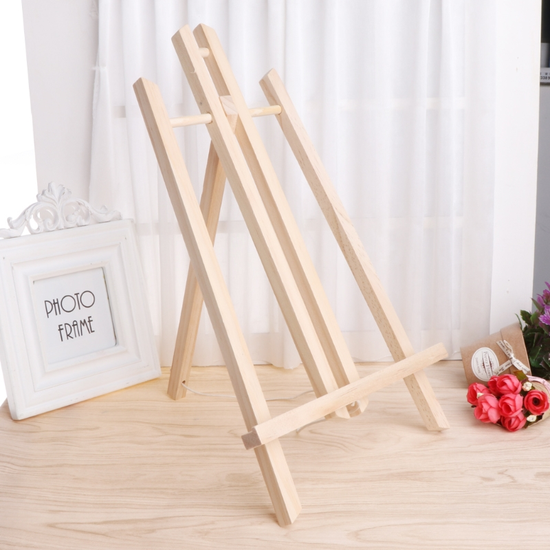 Wood Easel Advertisement Exhibition Display Shelf Holder Studio Painting Stand 10166