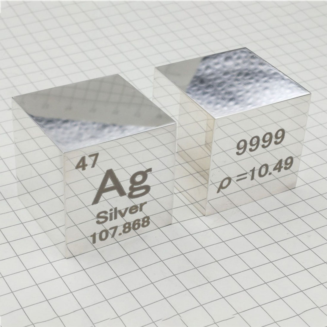 10mm Pure Density Ag≥99.9% Mirror Polish Argentum Cube Periodic Table Of Elements Cube Hand Made Science Educational DIY Crafts