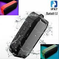 20M Bluetooth 5.0 Speakers 5W IPX7 Waterproof Bathroom Portable TF USB Flash Disk