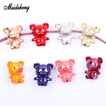 5pcs Cartoon Pig Acrylic Beads Bright Smooth Surface Rose Golden Accessories For Jewelry Making Children Gifts Beauty Ornaments