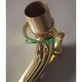 Excellent Alto saxophone neck gold lacquer brass material
