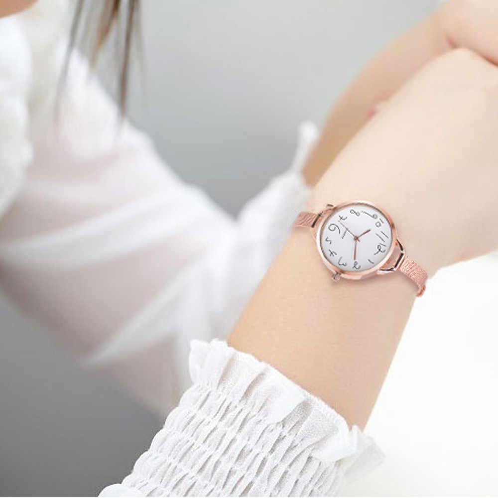 Thời trang Phụ Nữ Casual Pha Lê Thép Không Gỉ Analog Con Trỏ, Thạch Anh Cổ Tay Watch Bracelet Womens Đồng Hồ Top Brand Luxury