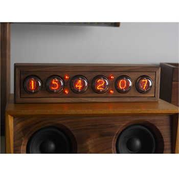 Cool! 6-bit Glow digital tube clock, black walnut solid wood digital display QS30-1, DIY retro ,Including tubes - SALE ITEM Tools