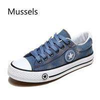 2019 Fashion students Women Sneakers Denim Casual Shoes Female Spring summer Canvas Shoes Trainers Flats with low tops