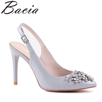 Bacia Women Genuine Leather Sandals Fashion Women Thin Heel Sandals Gril Summer Shoes Ladies Sandals Girls