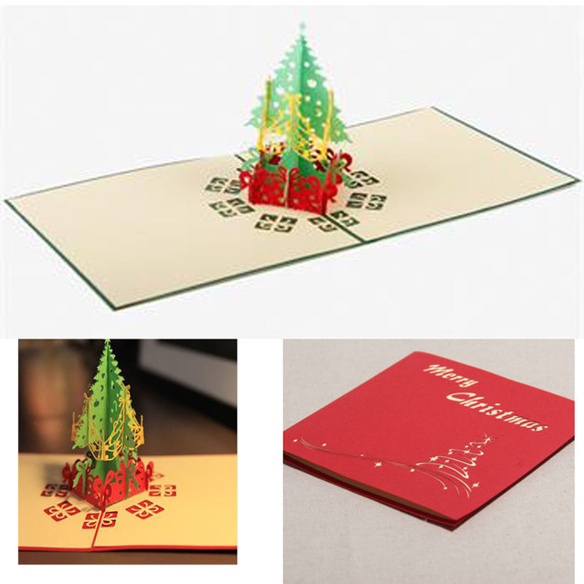 Fantastic 3d Pop Up Holiday Greeting Cards Christmas Tree Card