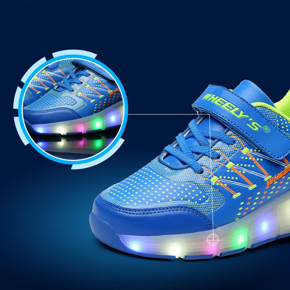 Kids Shoes Kids Glowing Sneakers LED Lights Children Roller Skate Shoes  Wheels Led Lights Up for Boy Girls tenis infantil-in Sneakers from Mother   Kids  on ... c91dc82425df