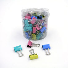 New 60pcs/lot 15mm Colorful Metal Binder Clips Paper Clip Of