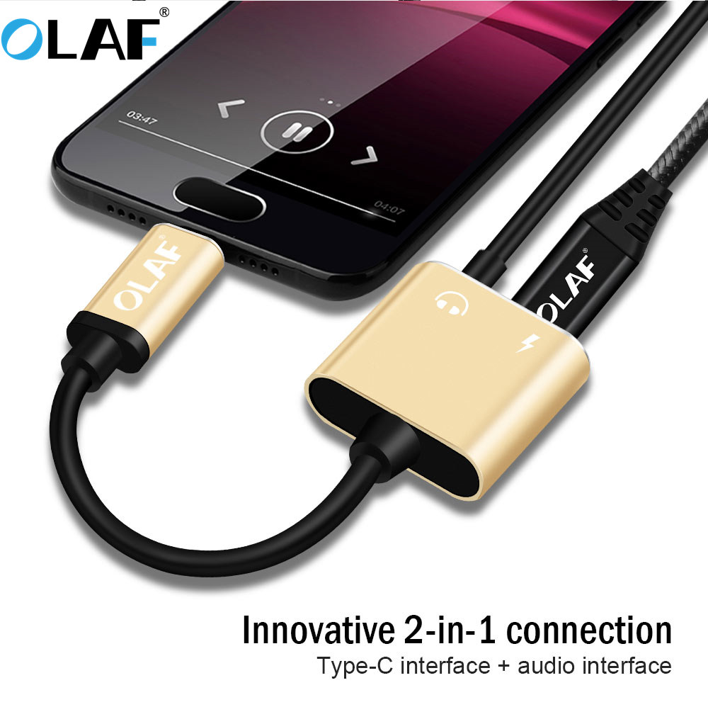 Olaf Type C 3 5mm Jack Earphone Charge Cable Usb C To