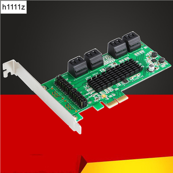 H1111Z Add On Cards SATA III 8 Ports Controller Card PCIe 2.0 x2 SATA 6Gb Expansion Card with Low Profile Bracket Support Win10