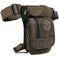 New  Men's  Canvas Hip Belt Bum Fanny Pack Waist Thigh Leg Drop Bag Military  Riding Motorcycle  Messenger Shoulder Bag