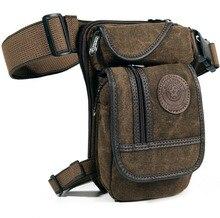 Nuevo Cinturón de Lona de Los Hombres de La Cadera Bum Fanny Pack Cintura Muslo Pierna de La Gota Bolsa de Montar Motocicleta Militar Messenger Bag Hombro