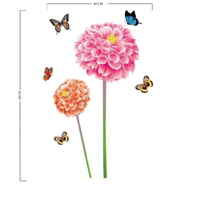 DIY Decor Fresh Nature 3D Sun Flower Butterfly Wall Sticker Decal Romantic  Art Home Decor 101