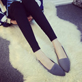 2017 Comfortable Casual Flat Shoes Women Slip On Work Shoes Spring Korean Shallow Mouth Pointed Toe Flats Ballerina Flats O996