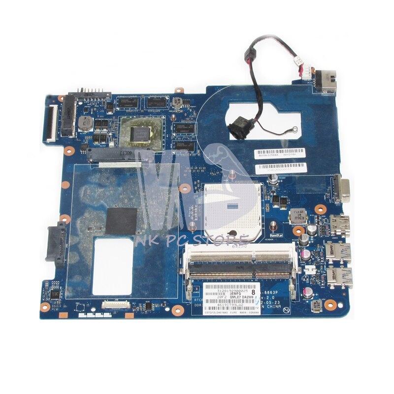 NOKOTION NEW For Samsung NP355 NP355C4C NP355V5C Laptop Motherboard BA59-03567A QMLE4 LA-8863P DDR3 HD7600M GPU 1GB free shipping the laptop motherboard for samsung np355 np355c4c np355v5c qmle4 la 8863p hd7600 1gb socket fs1 ddr3 work perfect