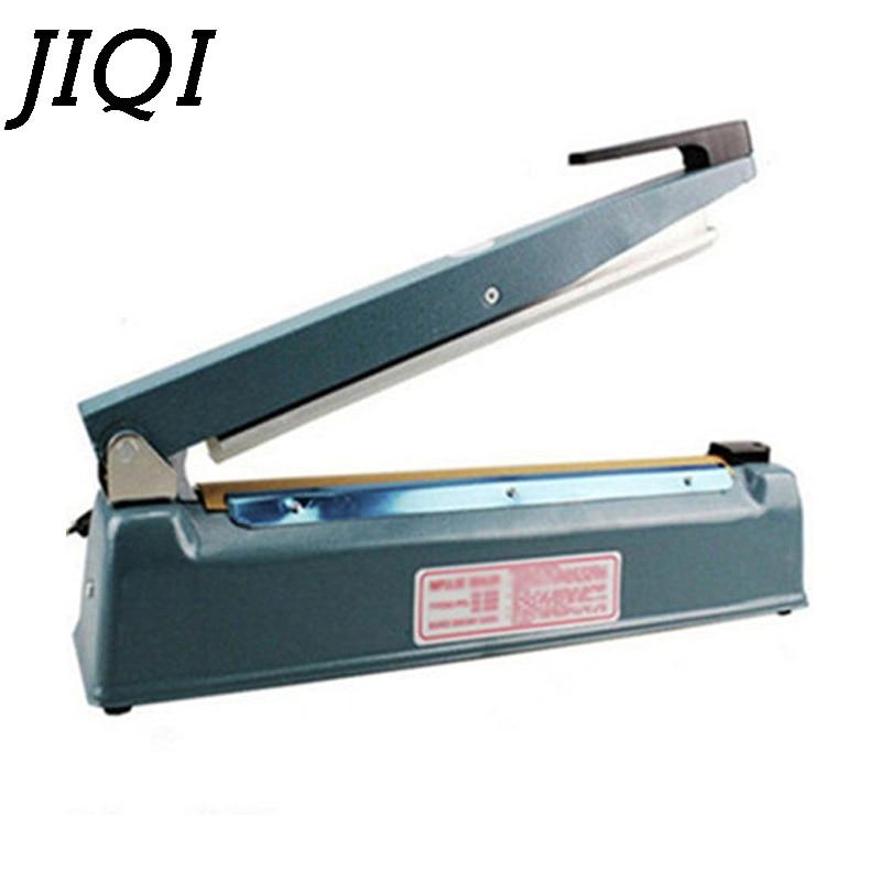 JIQI Digital Temperature Control Impulse Vacuum Sealer Manual Heat Sealing Machine Food Aluminum Foil Plastic Film Bag Packer EU