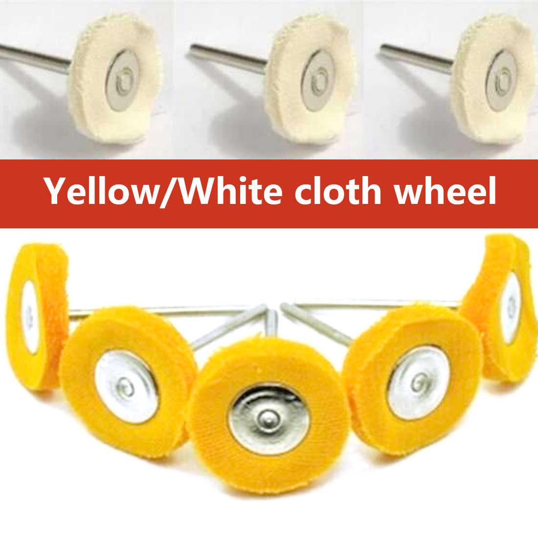 Полировка шлифовальные круглые насадки мягкая щетка 10 шт./компл. ручка ткань для полировки ювелирных изделий колесо для Dremel аксессуары