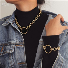 AOMU-Vintage-Choker-Necklace-Collar-Statement-Punk-Big-Round-Circle-Chunky-Necklace-Bracelet-Set-for-Women.jpg_640x640