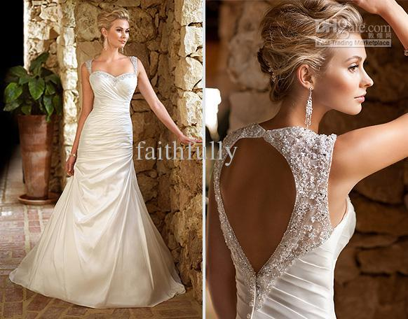 A Line Wedding Dress: Ella Bridals 5695 Taffeta Wedding Dress A Line Sweetheart