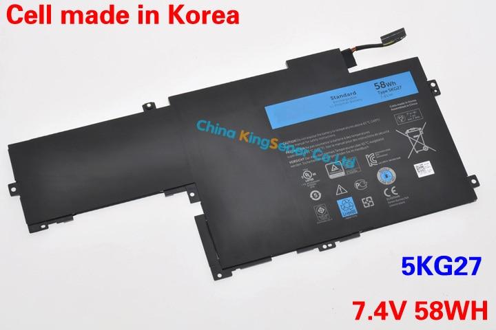 ФОТО Korea Cell Original Genuine New Laptop Battery 5KG27 For DELL Inspiron 14 7000 14-7437 C4MF8 5KG27 Battery 7.4V 58WH