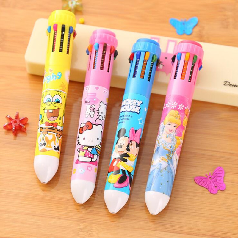 FLYKIT Office And School Suppliers Stationery Cartoon Ballpoint Pen Cute Creative Colorful  Pen Pupils For Student Gifts Awards