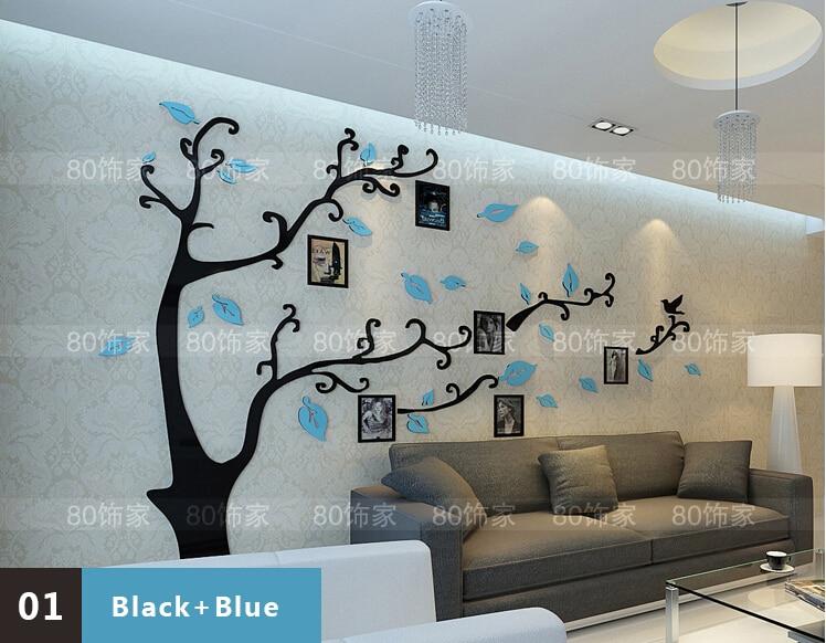 Acrylic Crystal Wall Decor: House Scenery Living Room Stickers 3D Stereoscopic Acrylic
