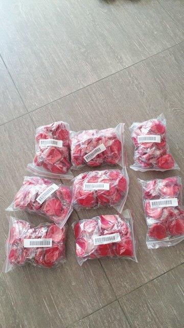 5000pcs / lot 5*5cm silk rose petals for Wedding Decoration, Romantic Artificial Rose Petals Wedding Flower Rose Flower 5