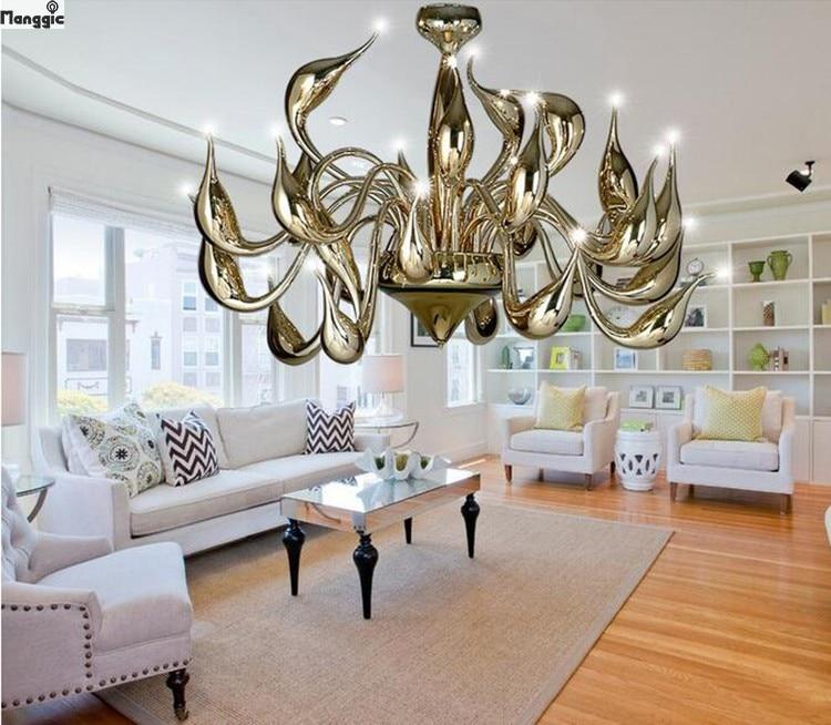 Art Deco Versieren 18 Lichten Swan Kroonluchter En Hangers Woonkamer Kaars Lampen Luxe Kristal Voor Nobelheid Hotel