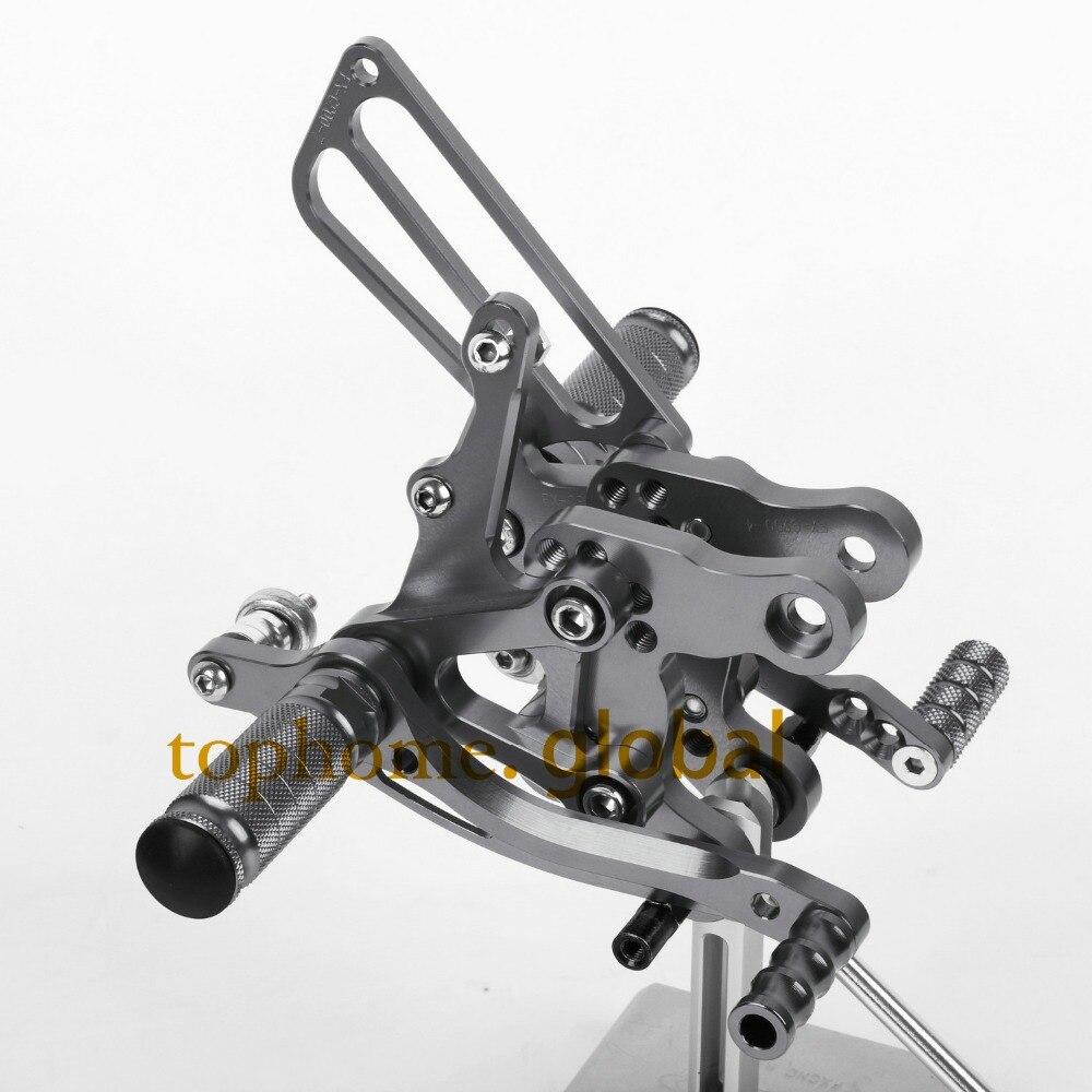 Motorcycle Parts Dark grey CNC Rearsets Foot Pegs Rear Set For HONDA CBR400 NC29 1993-1994 1995 1996-1999 Titanium Color