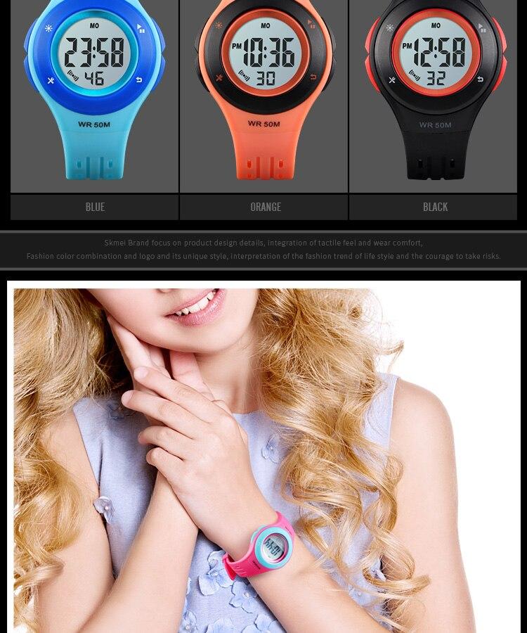 SKMEI Fashion Men Quartz Watch Children Digital Watch Big Dial Waterproof Parent-child Watches relogio masculino 9185 1455 Set 18