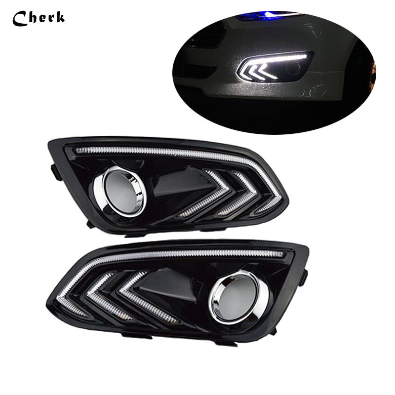 Headlight 2pcs LED DRL For Ford Escort 2015 2016 Daytime Running Light Waterproof Fog Lamp car-styling Free shipping шкатулка декоративная феникс презент с любовью 10 5 х 8 х 6 см