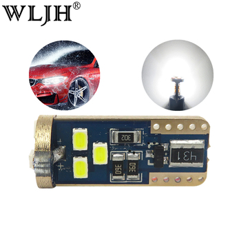 WLJH 2x Led Bulb Canbus No OBC Error T10 W5W Leds Auto Parking Interior License Plate Lamp Sidemarker Bulbs Canbus Car Led Light image