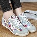 G. L. IRMÃO Sapatos Cestas Femme Esporte 2016 Zapatillas Deportivas Mujer Mulheres Formadores Calçados Casuais Sapatas de Lona Florais para As Mulheres