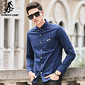 Pioneer Camp plaid Shirt Men Long Sleeve New brand clothing Top quality slim fit designer business fashion Male Shirt 677179