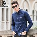 Pioneer camp camisa xadrez homens camisa de manga comprida roupa nova marca top quality slim fit negócios designer de moda masculina camisa 677179
