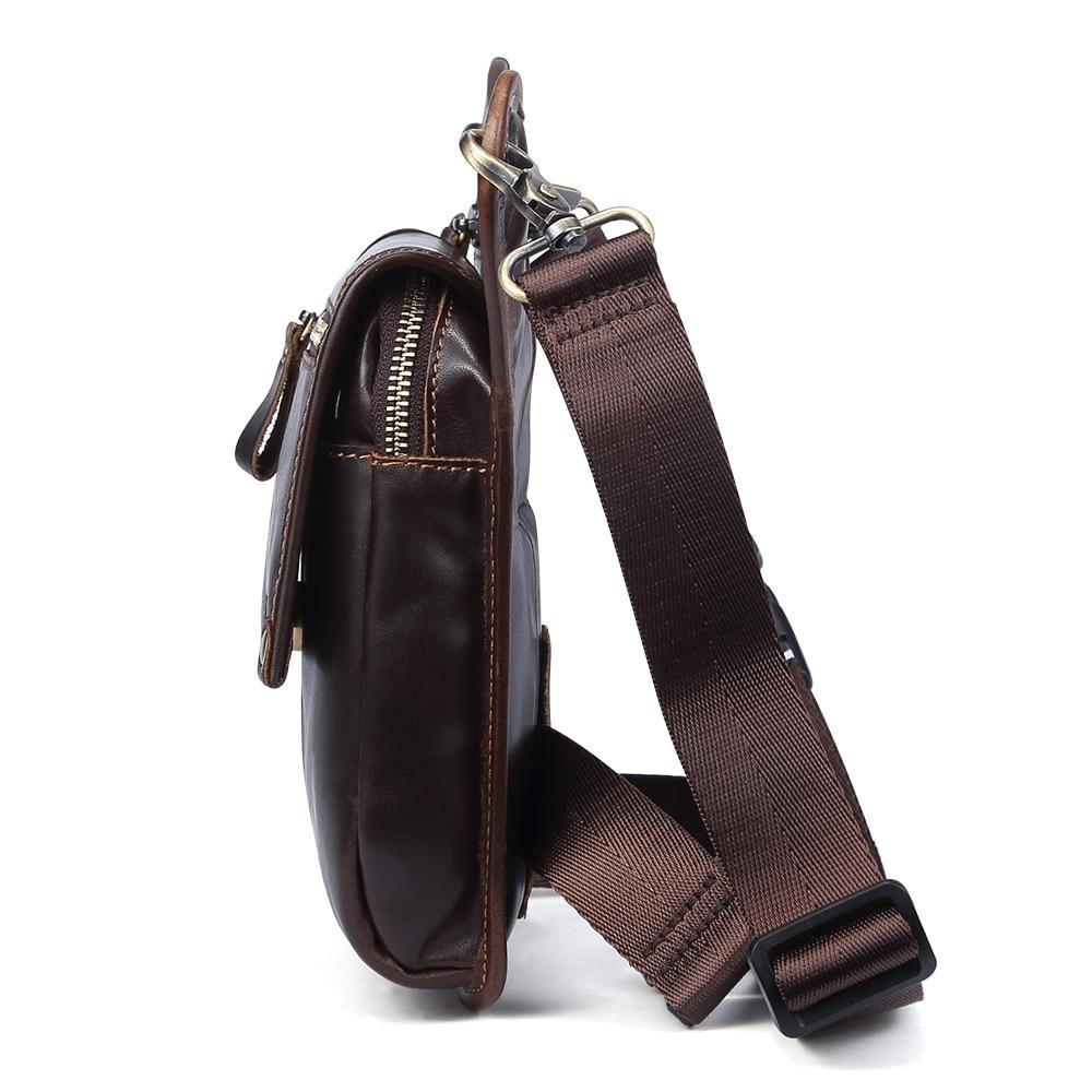 Мужские сумки на пояс из натуральной кожи, сумки мессенджеры через плечо, забавные Сумки на пояс, многофункциональные мужские сумки для путешествий, 6369 - 6