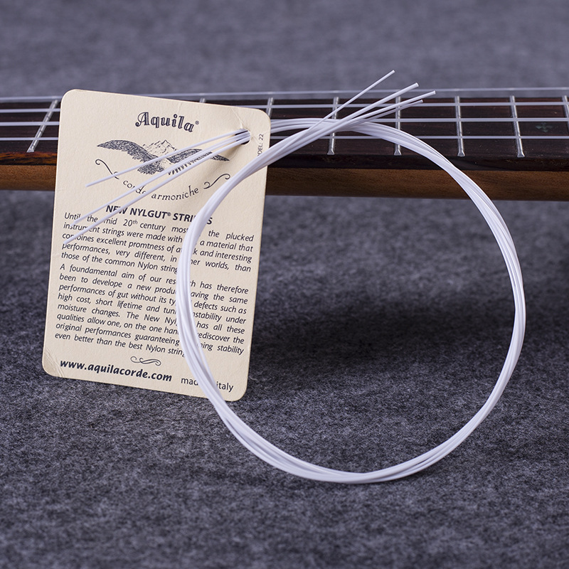 10 Sets of White Nylon Ukulele Strings 1st-4th Hawaii Guitar Soprano Concert Tenor Strings Free Shipping Wholesales