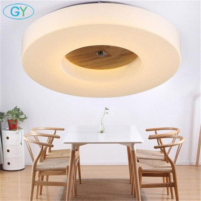 Modernen Minimalistischen Led Deckenleuchte Dimmen Wohnzimmer Schlafzimmer  FÜHRTE Deckenbeleuchtung Kreis Acryl Schatten Holz Dekoration Leuchte