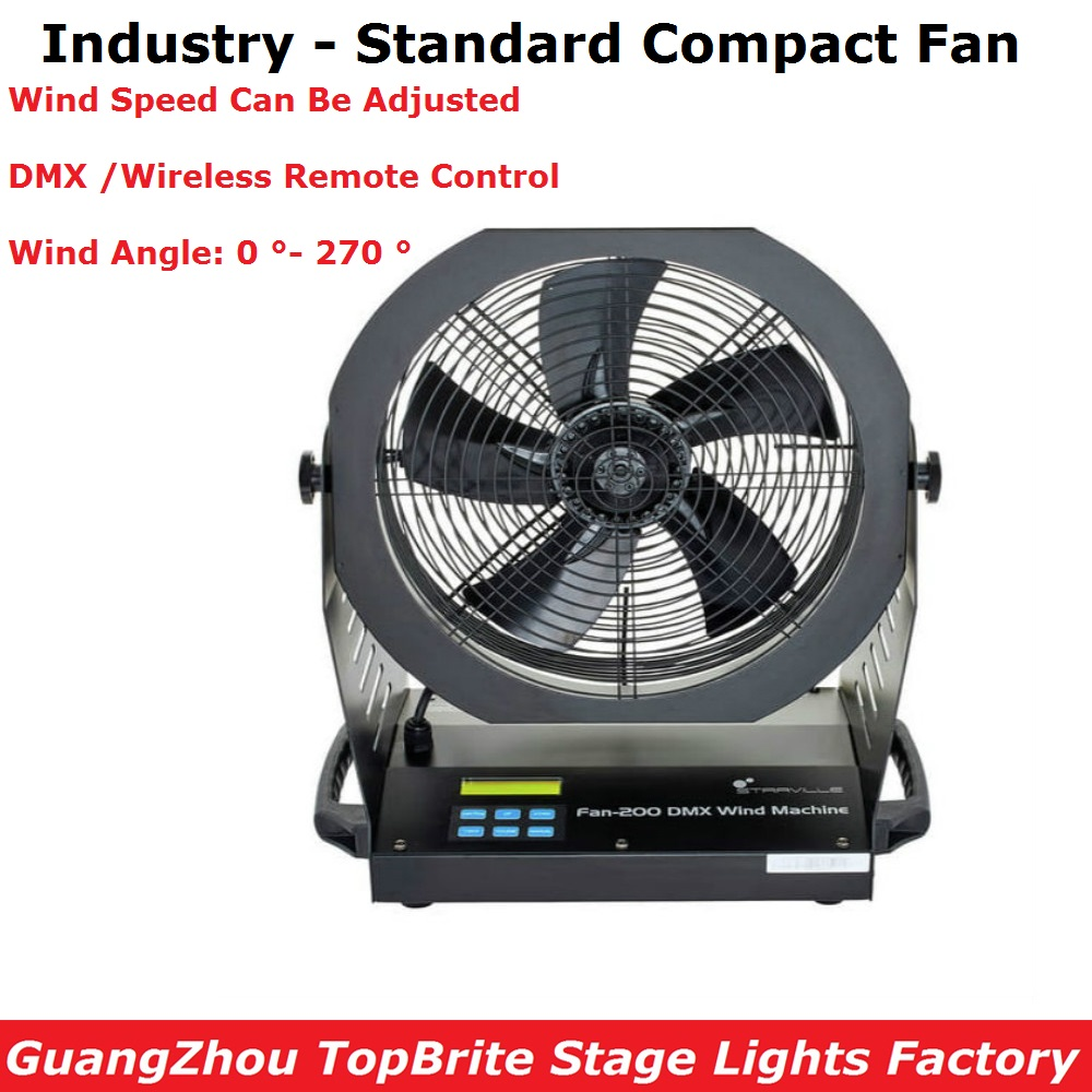Industry Standard Fan 200W High Power DMX Fan Professional Stage Dj Lighting Equipments DMX//Wire Remote Control Free Shipping