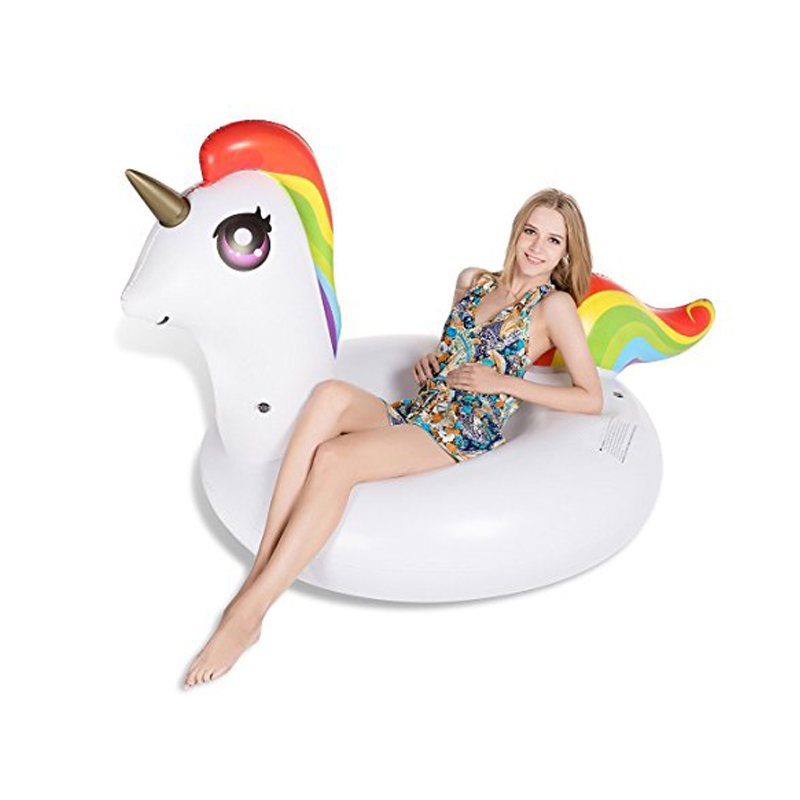 200*120*90cm Giant Inflatable Unicorn Swimming Ring 2018 Summer Pool Float For Adult Children Water Party Toys Air Mattress boia