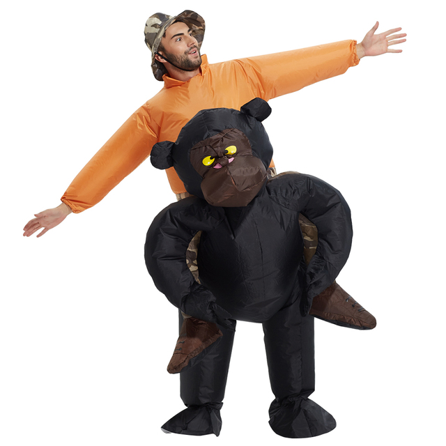 new christmas women men riding inflatable gorilla costume cosplay funny inflatable costume halloween monkey costume for