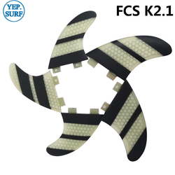 Wake Board Free Shipping Surf Paddling Fins FCS K2.1 Fin White and Black Honeycomb Fibreglass Fins Surf FCS Fin