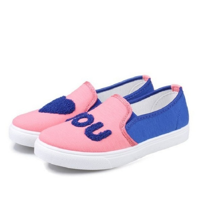2017 Nuevas mujeres ocasionales zapatos respirables coreanos zapatos de lona muchacha de las mujeres zapatos perezosos para ayudar baja pisos Venta Caliente B485